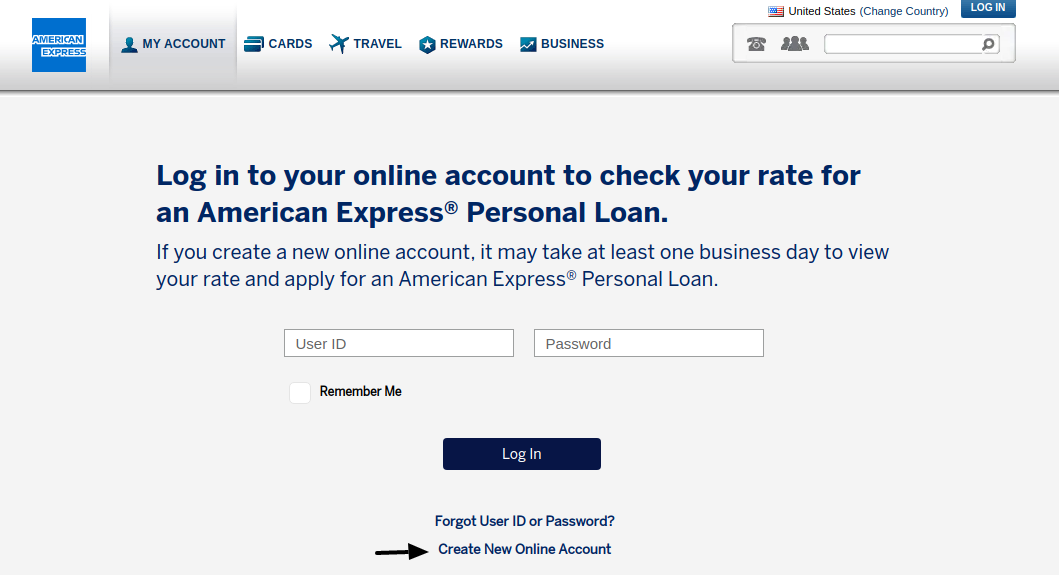 American Express Personal Loans Create Account