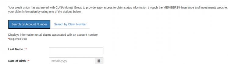 Claim Status - Search