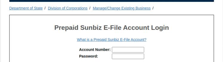 Sunbiz Account Login