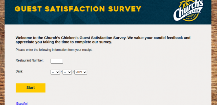 Churchs Chicken Guest Survey