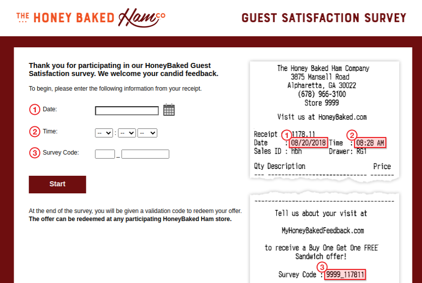 HoneyBaked Guest Survey