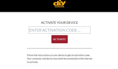 Activate DIY Network GO