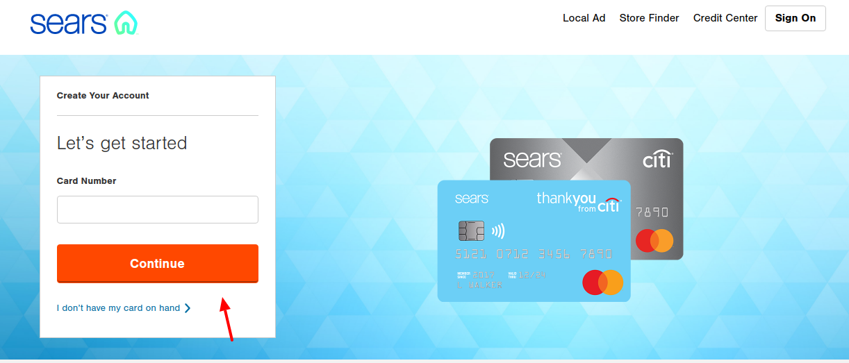 sears mastercard activation